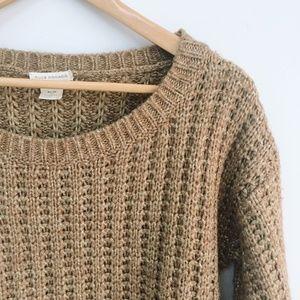 Club Monaco Gold Tan Knit Sweater - Size xs
